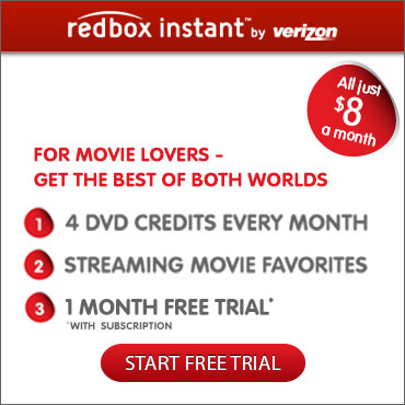 Redbox Instant Free Trial Discs plus Digital online streaming Movies and TV shows
