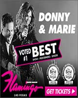 Save $30 on Donny & Marie Las Vegas Show Tickets with Promo Code 20AFF Book Now!