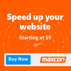 Want a faster website? 25% OFF at MaxCDN TODAY!