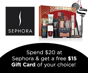 Spend $20 at Sephora, and You'll Get a FREE $15 Gift Card